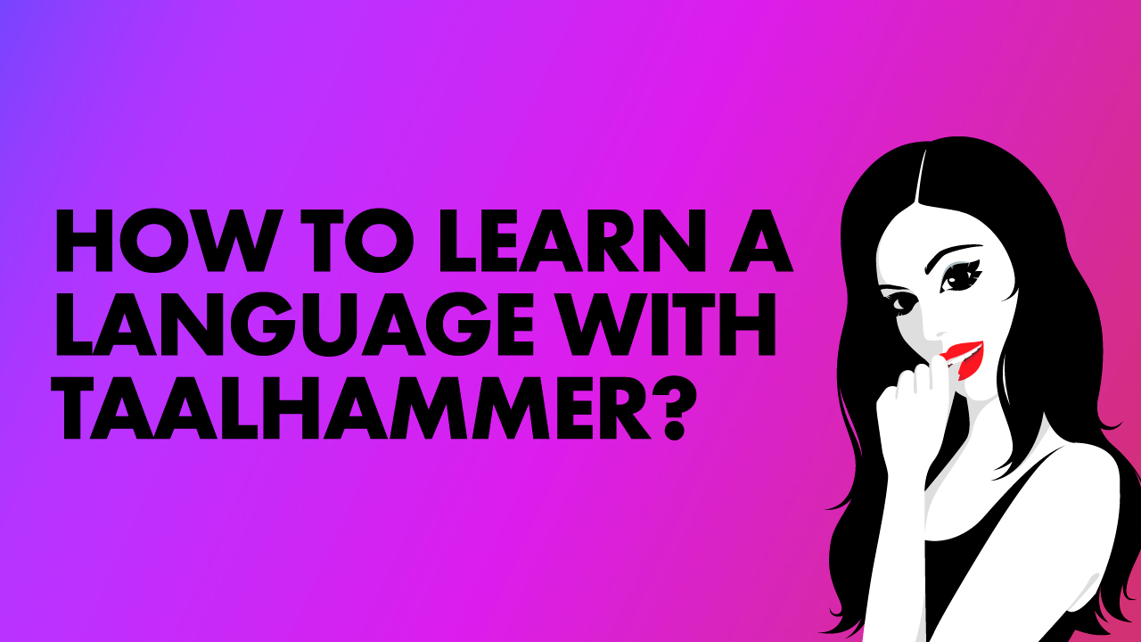 How to learn a language with Taalhammer